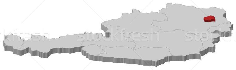 Map of Austria, Vienna highlighted Stock photo © Schwabenblitz