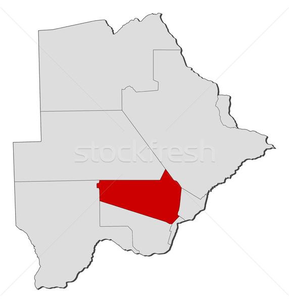 Harita Botsvana soyut arka plan kırmızı iletişim Stok fotoğraf © Schwabenblitz