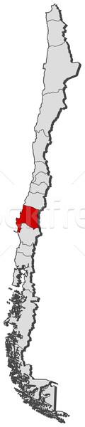 Térkép Chile politikai néhány régiók földgömb Stock fotó © Schwabenblitz