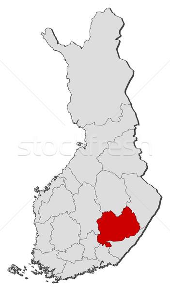 Mapa Finlândia político vários regiões Foto stock © Schwabenblitz