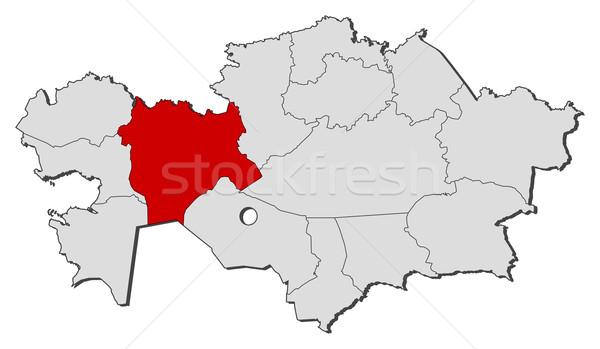 карта Казахстан политический несколько мира Сток-фото © Schwabenblitz