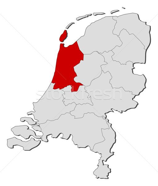 Térkép Hollandia észak Hollandia politikai néhány Stock fotó © Schwabenblitz
