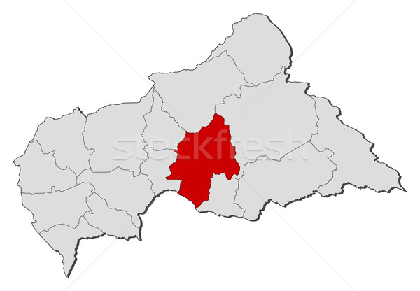 Map of Central African Republic, Ouaka highlighted Stock photo © Schwabenblitz