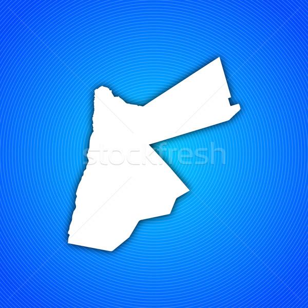 Pokaż Jordania polityczny kilka streszczenie świat Zdjęcia stock © Schwabenblitz