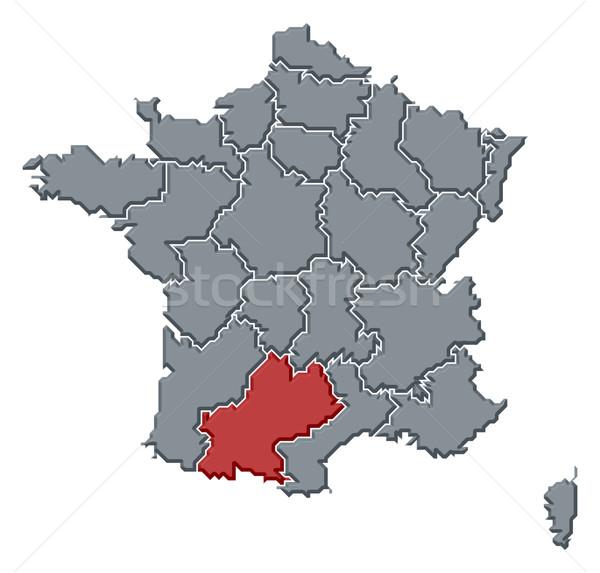 Map of France, Midi-Pyr Stock photo © Schwabenblitz