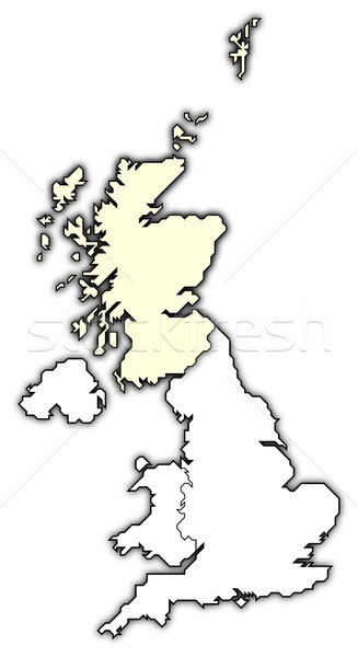 Map of United Kingdom, Scottland highlighted Stock photo © Schwabenblitz