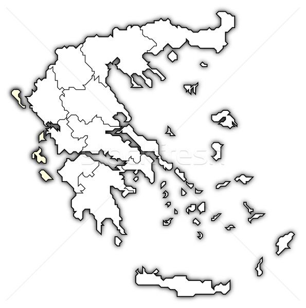 Сток-фото: карта · Греция · политический · несколько · аннотация