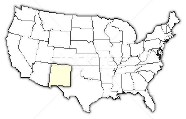 Map of the United States, New Mexico highlighted Stock photo © Schwabenblitz