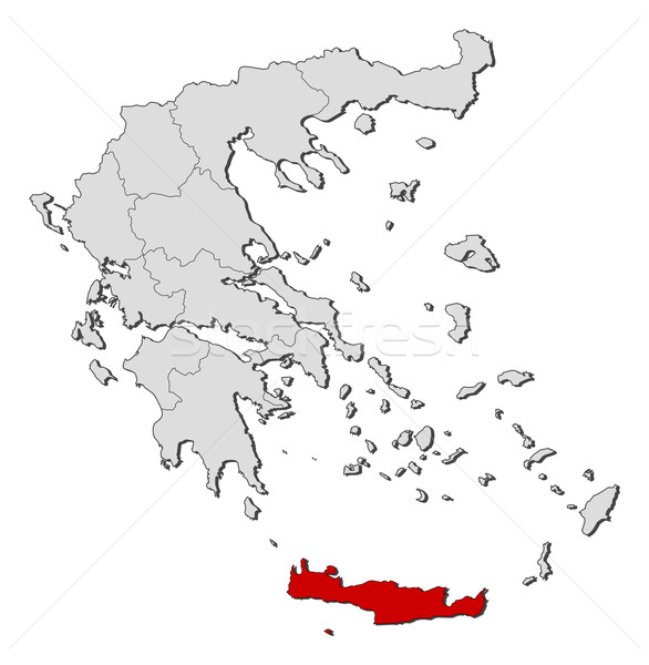 Map of Greece, Crete highlighted Stock photo © Schwabenblitz