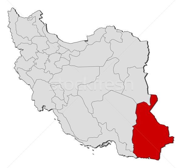 карта Иран политический несколько аннотация земле Сток-фото © Schwabenblitz