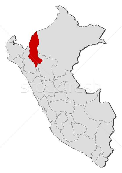 Map of Peru, Amazonas highlighted Stock photo © Schwabenblitz