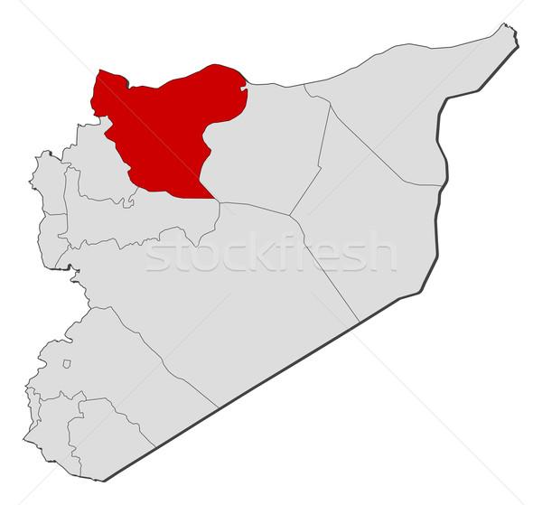 Kaart Syrië politiek verscheidene abstract aarde Stockfoto © Schwabenblitz