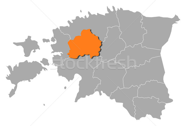 Map of Estonia, Rapla highlighted Stock photo © Schwabenblitz
