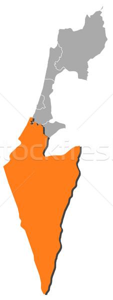 Mapa Israel distrito político vários Foto stock © Schwabenblitz