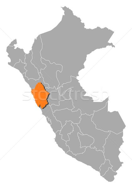 地図 ペルー 政治的 いくつかの 地域 抽象的な ストックフォト © Schwabenblitz