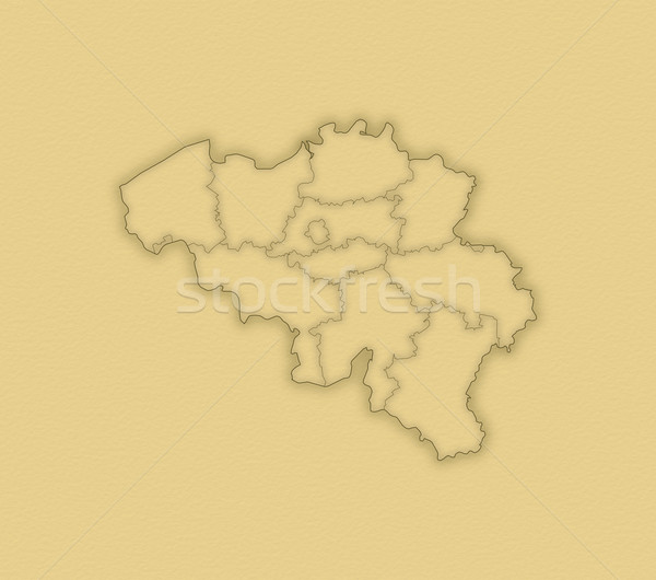 Stock photo: Map of Belgium