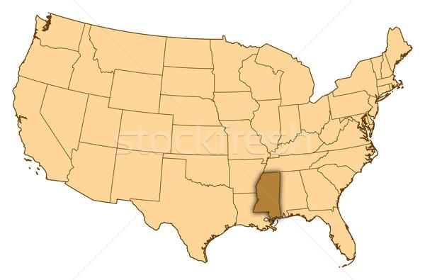 Harita Amerika Birleşik Devletleri Mississipi soyut arka plan iletişim Stok fotoğraf © Schwabenblitz