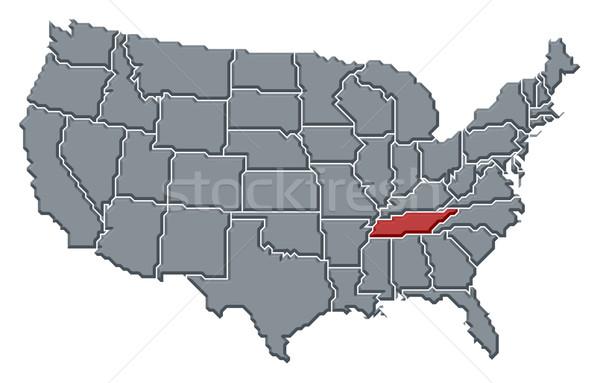 Carte États-Unis Tennessee politique plusieurs résumé Photo stock © Schwabenblitz