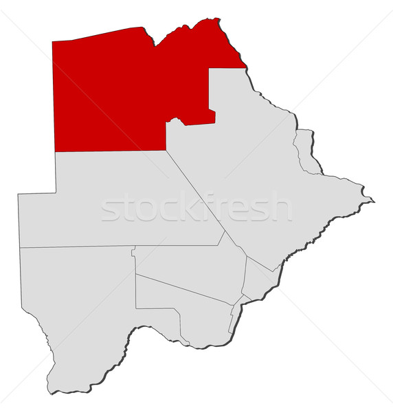 Map - Botswana, North-West Stock photo © Schwabenblitz