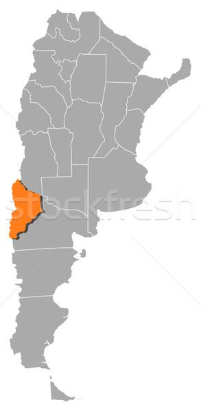 Mapa Argentina político vários globo abstrato Foto stock © Schwabenblitz