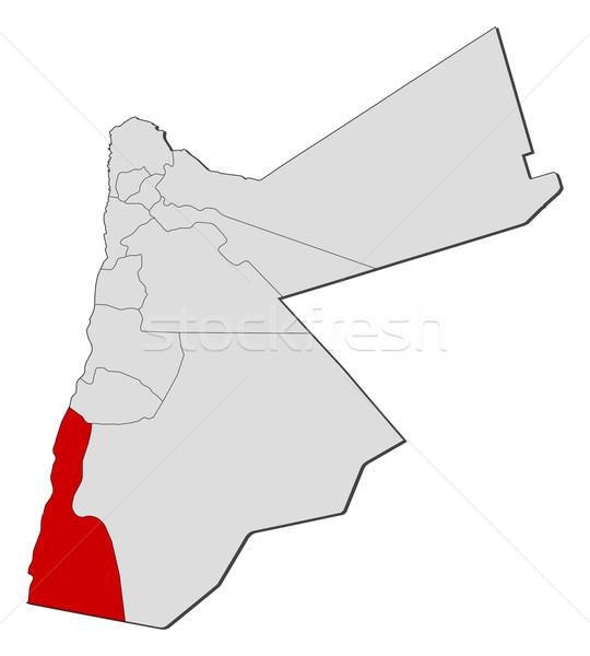 Karte Jordan politischen mehrere abstrakten Erde Stock foto © Schwabenblitz