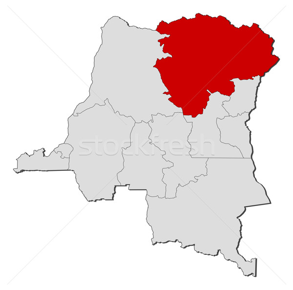Map of Democratic Republic of the Congo, Orientale highlighted Stock photo © Schwabenblitz