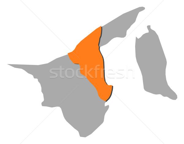 Kaart Brunei abstract wereld achtergrond communicatie Stockfoto © Schwabenblitz