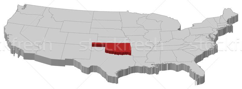 карта Соединенные Штаты Оклахома политический несколько аннотация Сток-фото © Schwabenblitz