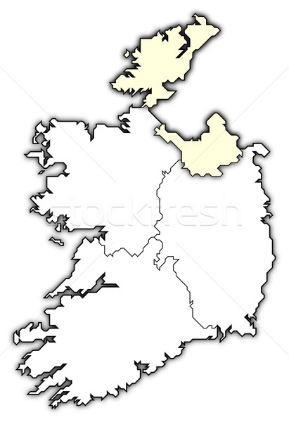 Map of Ireland, Ulster highlighted Stock photo © Schwabenblitz