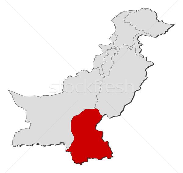 Harita Pakistan siyasi birkaç dünya soyut Stok fotoğraf © Schwabenblitz