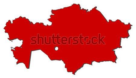 Kaart Kazachstan politiek verscheidene regio abstract Stockfoto © Schwabenblitz