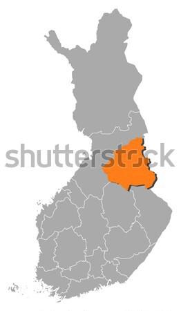 карта Финляндия политический несколько аннотация Сток-фото © Schwabenblitz
