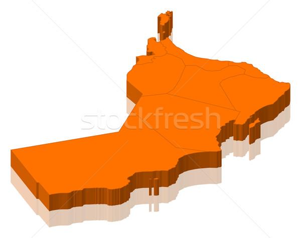 Map of Oman Stock photo © Schwabenblitz