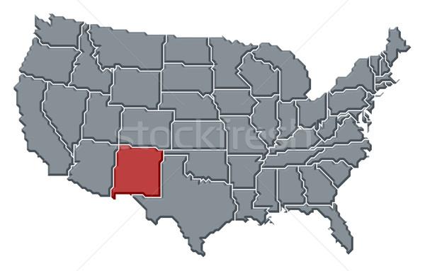 карта Соединенные Штаты Нью-Мексико политический несколько аннотация Сток-фото © Schwabenblitz