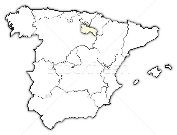 Harita İspanya siyasi birkaç bölgeler Stok fotoğraf © Schwabenblitz