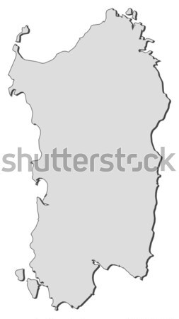 Map of Sardinia (Italy) Stock photo © Schwabenblitz