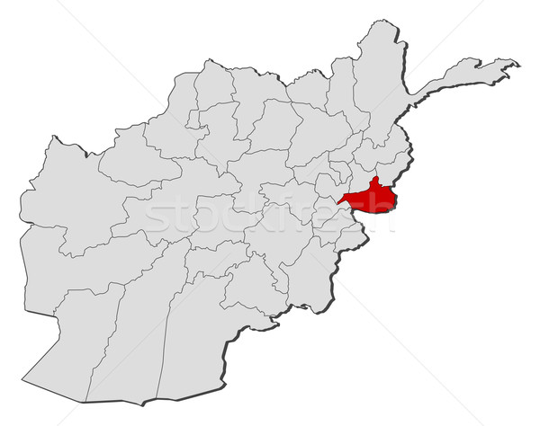 Map of Afghanistan, Nangarhar highlighted Stock photo © Schwabenblitz