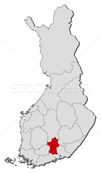Mapa Finlandia político regiones mundo Foto stock © Schwabenblitz
