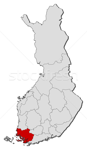 Map of Finland, Finland Proper highlighted Stock photo © Schwabenblitz