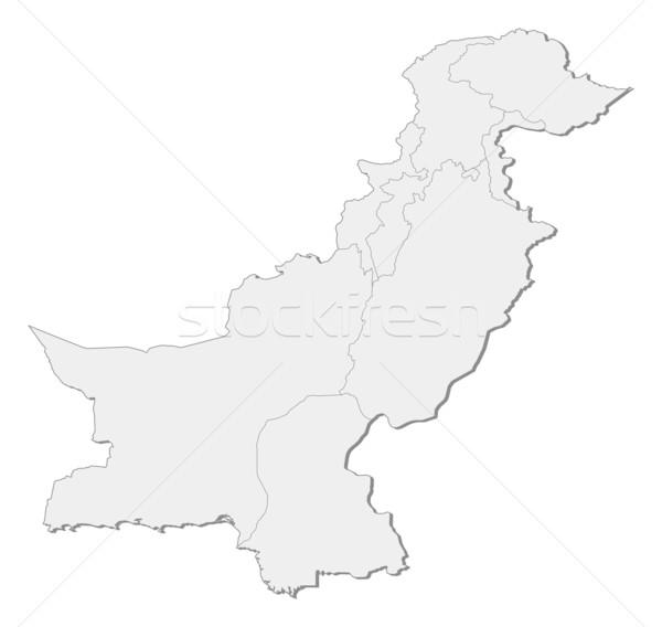 Harita Pakistan siyasi birkaç soyut toprak Stok fotoğraf © Schwabenblitz