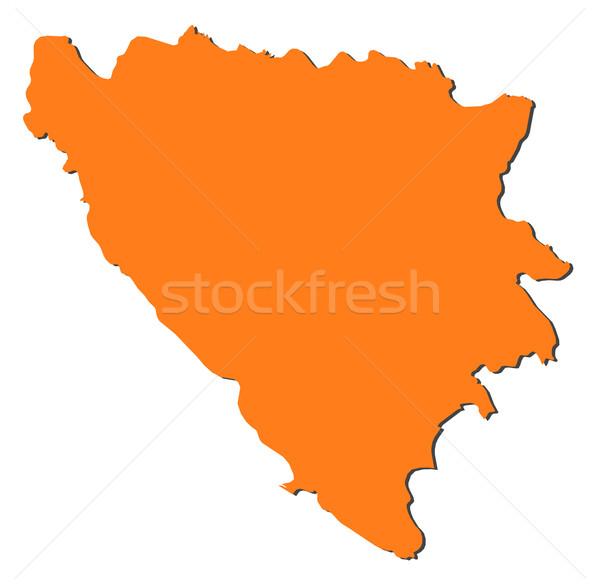 Mapa Bosnia Herzegovina político resumen mundo Foto stock © Schwabenblitz