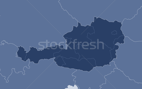 Map of Austria Stock photo © Schwabenblitz