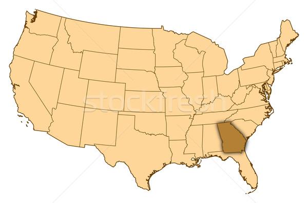 Mapa Estados Unidos Geórgia abstrato fundo comunicação Foto stock © Schwabenblitz