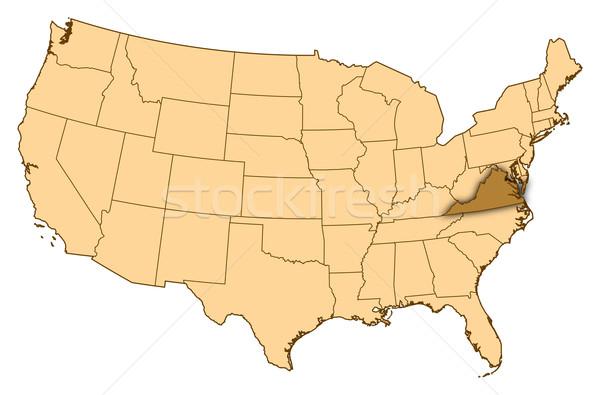 карта Соединенные Штаты Виргиния аннотация фон связи Сток-фото © Schwabenblitz