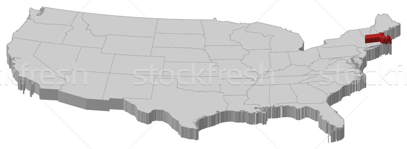 Massachusetts Stock Photos Stock Images And Vectors Stockfresh - Us map massachusetts highlighted