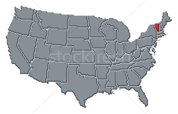 Harita Amerika Birleşik Devletleri Vermont siyasi birkaç soyut Stok fotoğraf © Schwabenblitz