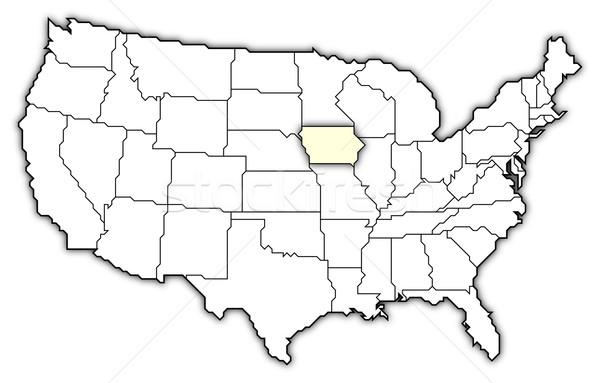 Térkép Egyesült Államok Iowa politikai néhány absztrakt Stock fotó © Schwabenblitz