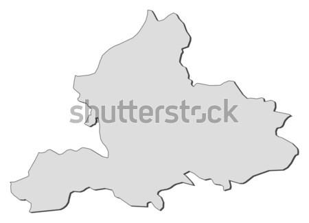 Foto stock: Mapa · Holanda · abstrato · fundo · comunicação · preto