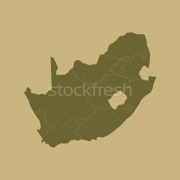 Mapa África do Sul histórico papel abstrato mundo Foto stock © Schwabenblitz