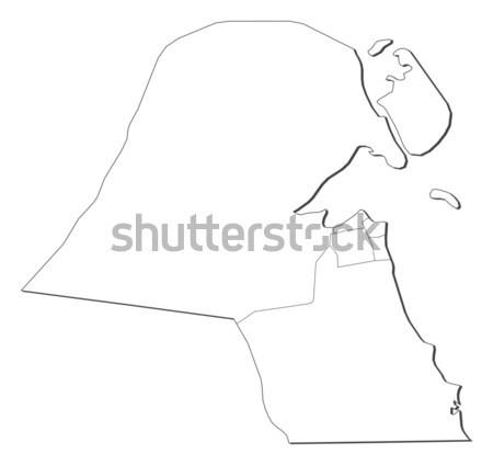 Map of Kuwait Stock photo © Schwabenblitz